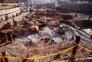 Excavation for NMAI, by Unknown, November 2001, Smithsonian Archives - History Div, J.