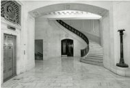 Interior of Alexander Hamilton Customs House with Staircase, by Tinsley, Jeff, 1991, Smithsonian Archives - History Div, SIA2011-1529 and 91-8289-11.