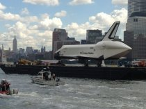 Space Shuttle Enterprise and Empire State Building